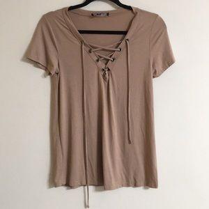 Lulu's lace-up tshirt